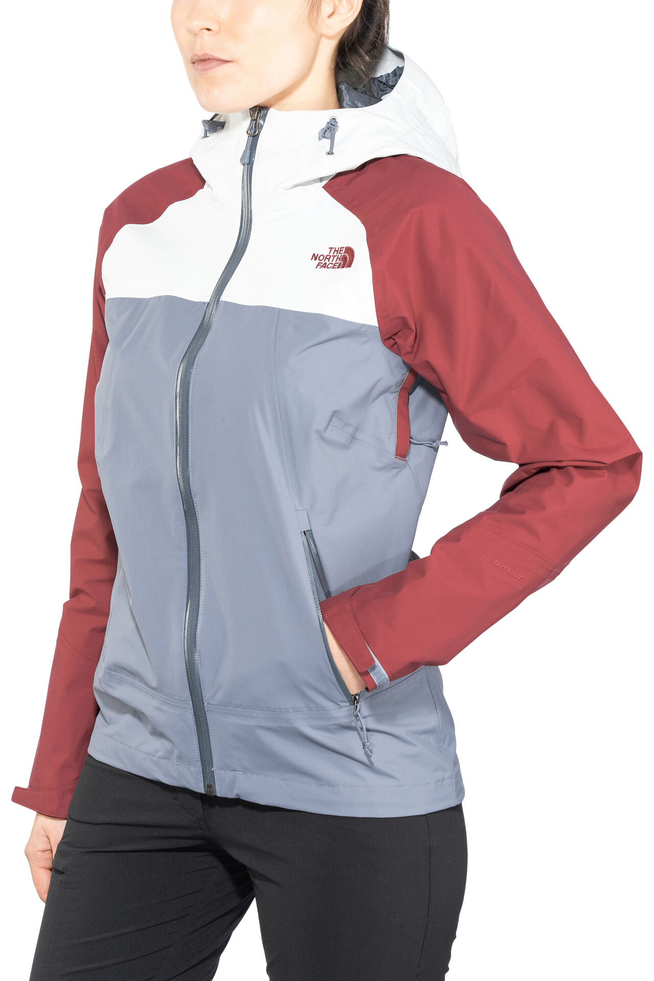 The North Face Stratos women's outdoor jacket (greyred)